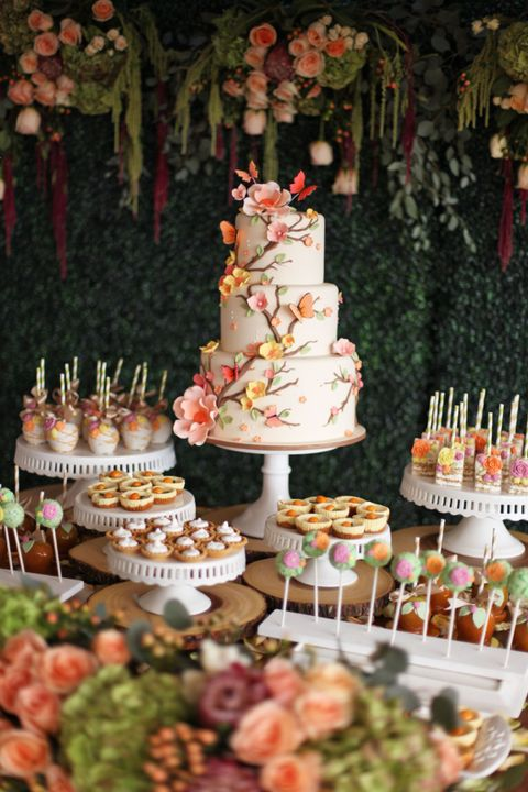 The cake, the sweets, the sandwiches all had edible flowers in them