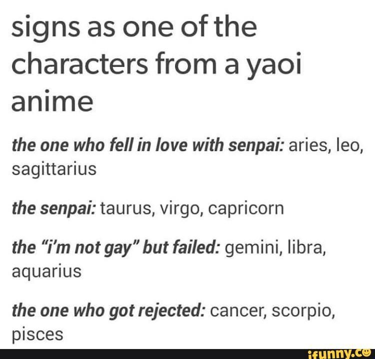 Anime Zodiac Signs!!!!! 3 X3  The Signs As A Yaoi. Esophagus Pleura Signs. Breakout Edu Signs Of Stroke. Mealtime Signs. Lymphoid Hyperplasia Signs. Bipolar Signs. Sky Signs. February 7th Signs. Feng Shui Signs