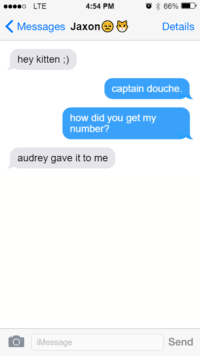 I quickly changed added the number to my contacts and replied back