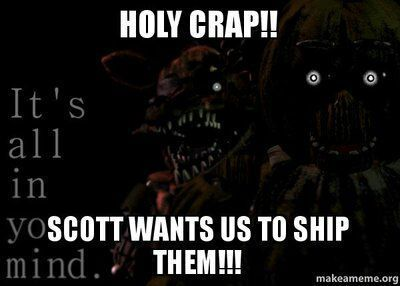 *Nightmare, Luna and Nightmare Foxy stare at the image until Nightmare says*