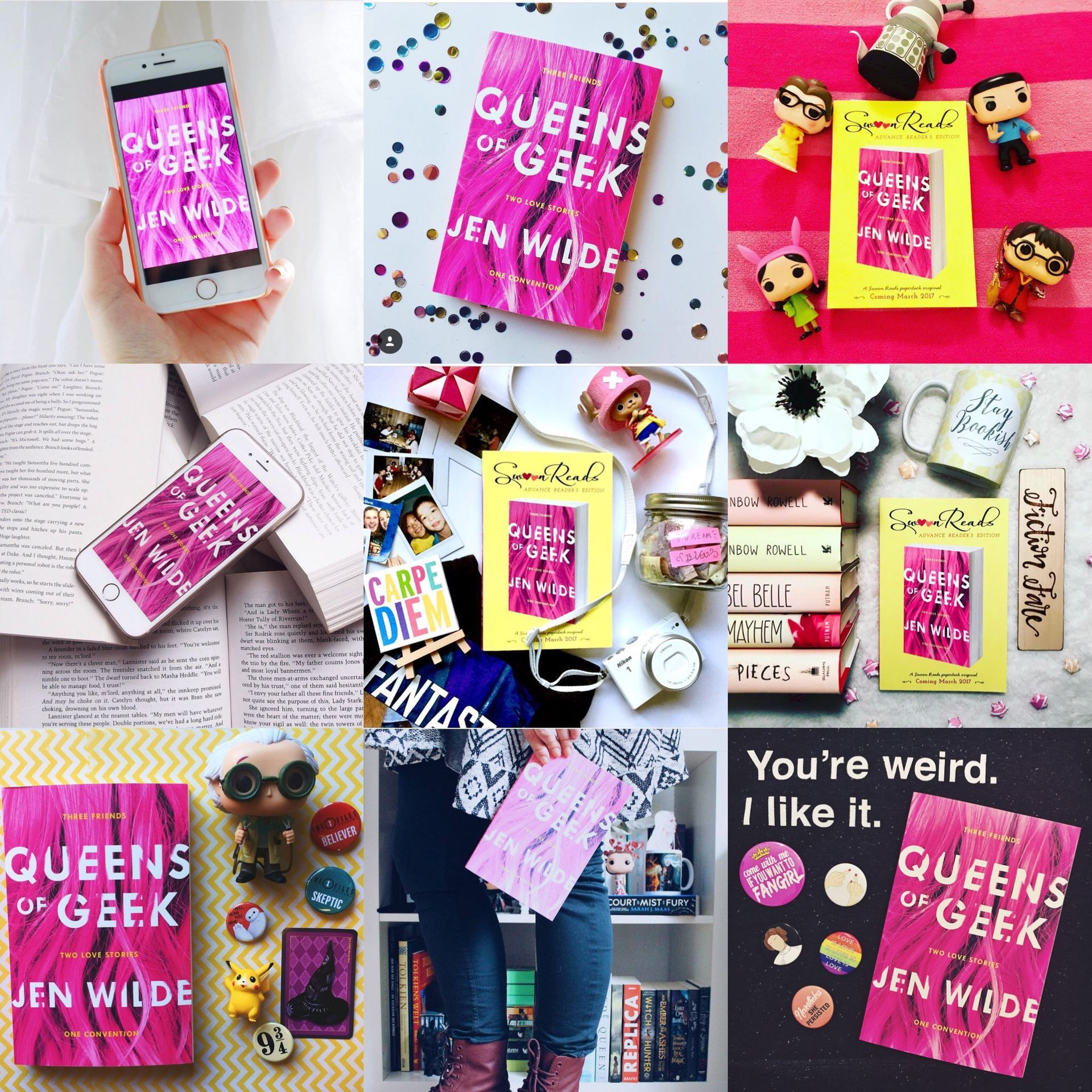 After what feels like an eternity of waiting, QUEENS OF GEEK is finally hitting shelves today! :D