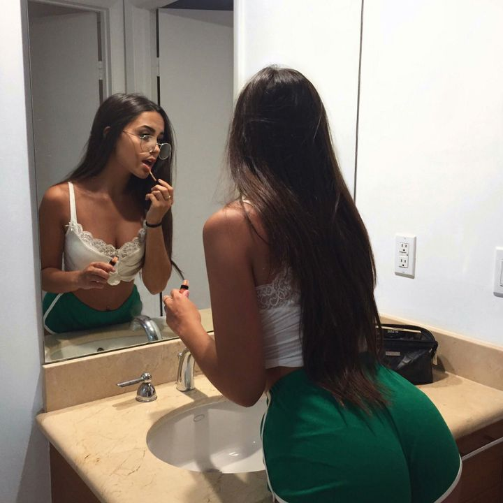 Your a very unique korean, you have Alot that some don't, and ass, small waist boobs not big in small and medium range, nice smooth pale skin but still a little tanned, long thick brown hair