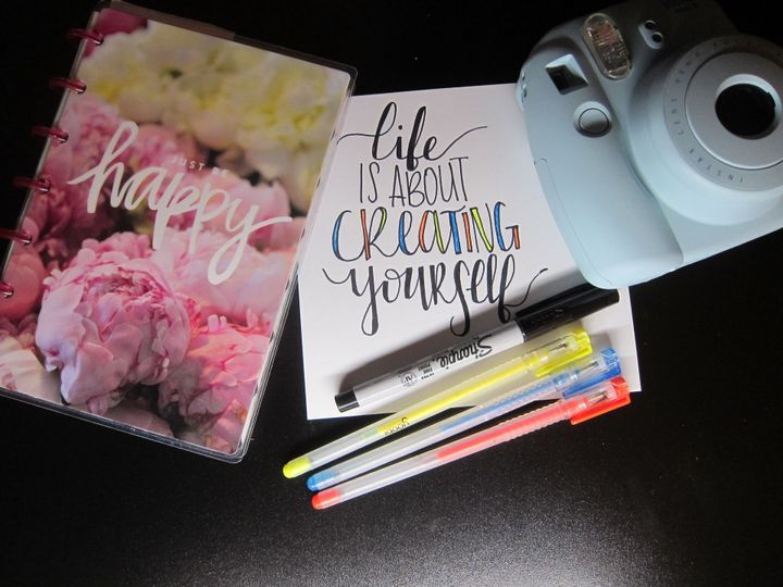 The journal on the far left is a be happy journal- it is super small and easy to carry around