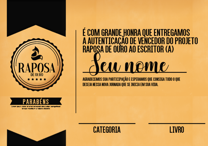 PRIMEIRO LUGAR: Divulgação - Entrevista - Capa - Selo - Certificado