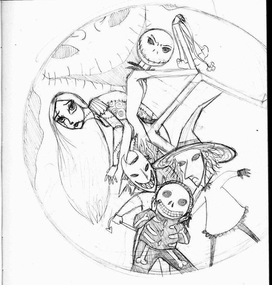 Tim burton disegni nightmare before christmas wattpad for Tim burton coloring pages