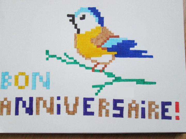 Pixel Art Joyeux Anniversaire