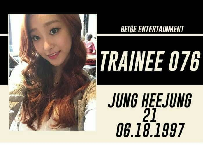 FULL NAME: Jung Heejung | Jung Heather