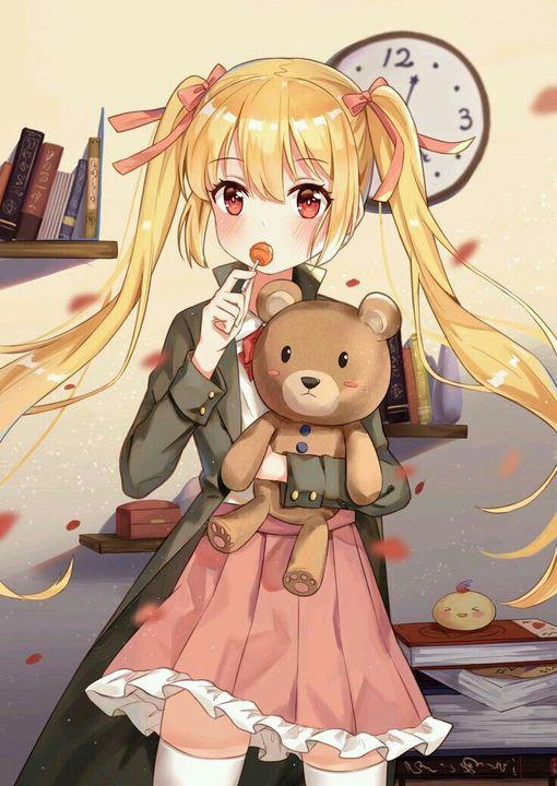 Đọc Truyện Ảnh Anime Đẹp ( 2 ) - Anime girl ôm gấu ( thú ) bông ...