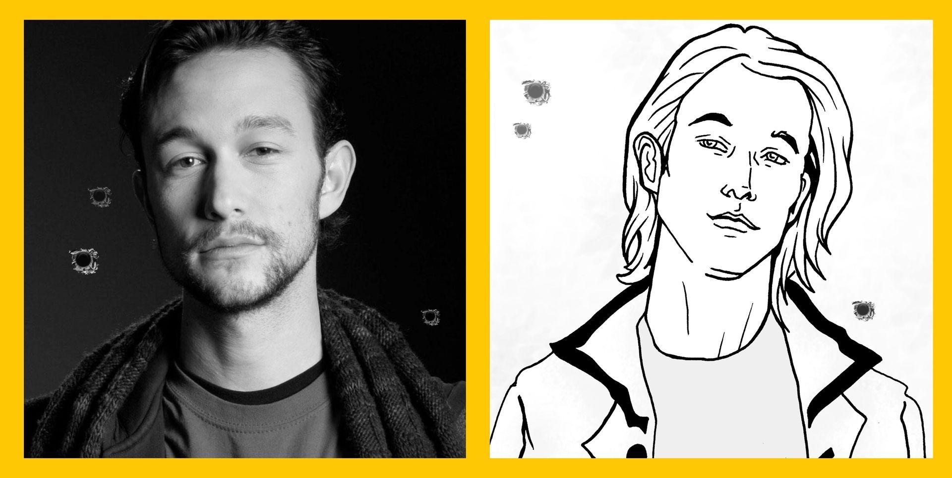 Durante a produção das ilustrações, eu utilizei o ator como base para o personagem