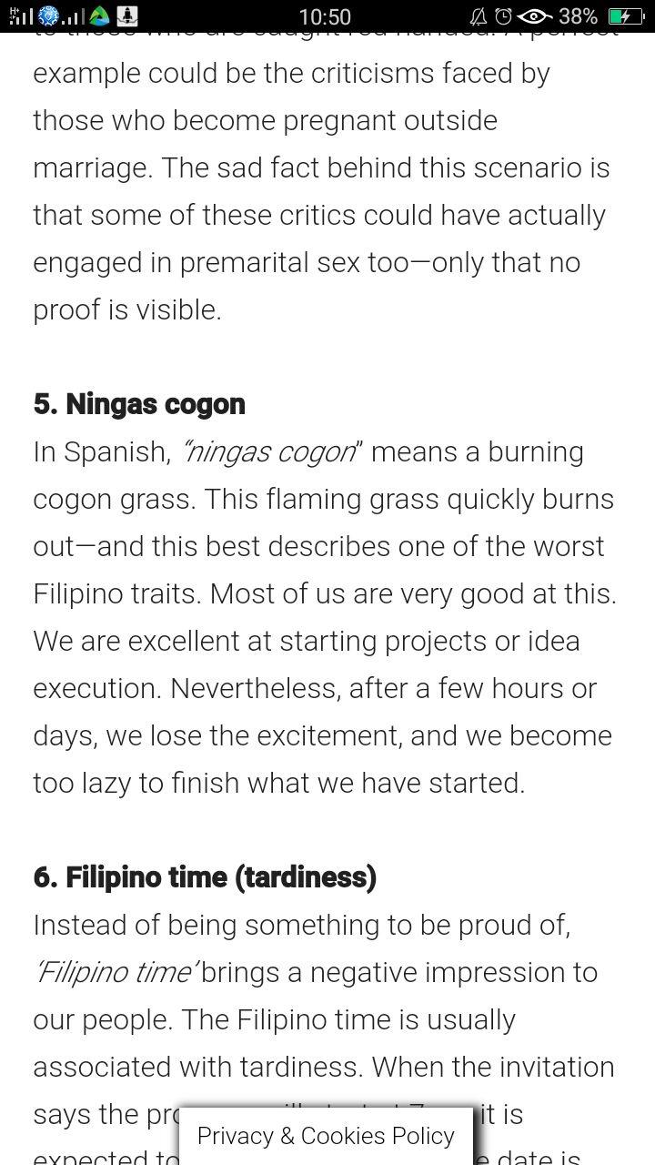 Philippine culture.