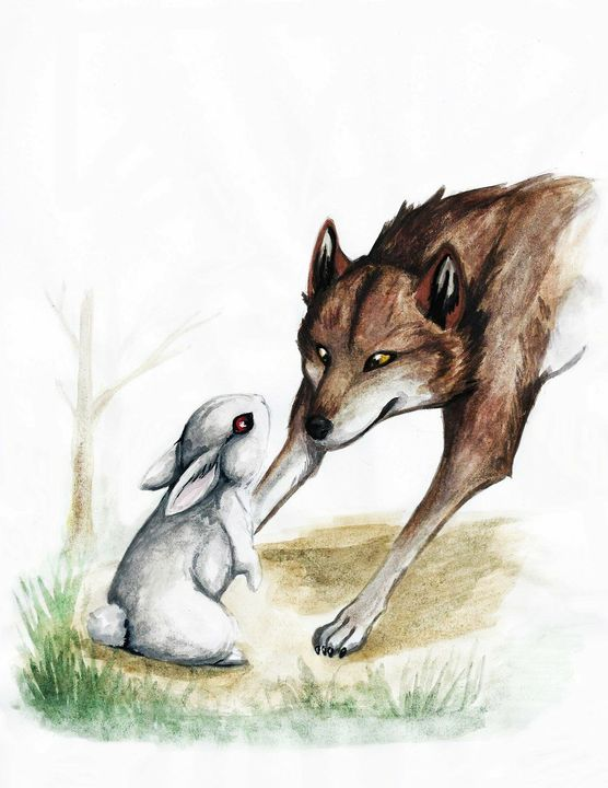 кулон волк целует зайца картинки поподробнее каждым фото