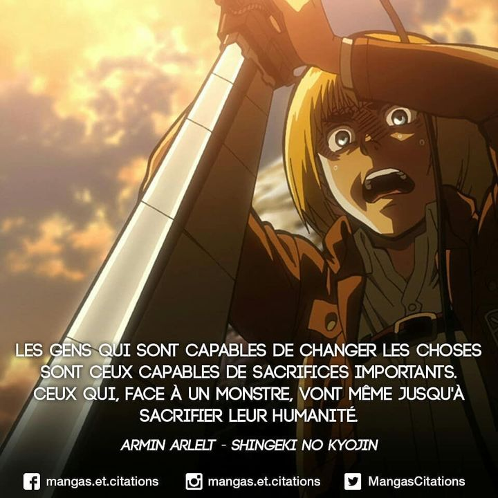 Citations Manga Armin Shingeki No Kyojin