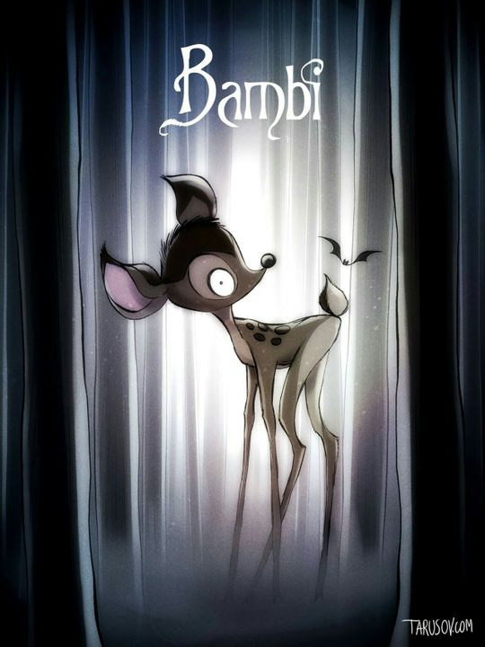 This is bambi in Tim Burton's style! I thought is was pretty freakin cool