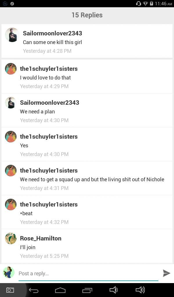 OK so shout outs to Sailormoonlover2343the1schuyler1sistersRose_HamiltonI die Evey time I read these comments