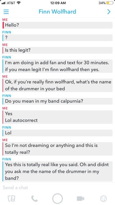 Losers Club Finn Wolfhard Texted Me On Snapchat Wattpad