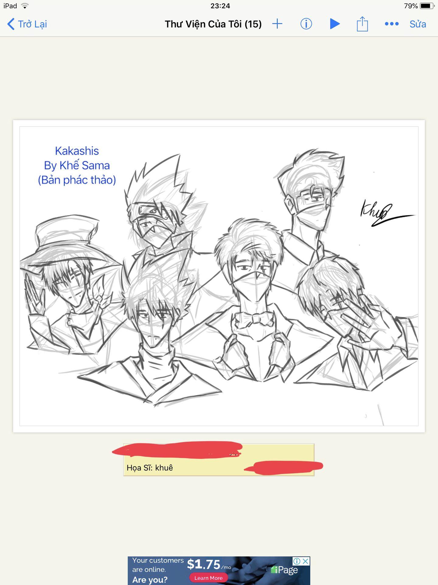 Hình 1: Vẽ Kakashi trên Ibis (bản phác thảo)