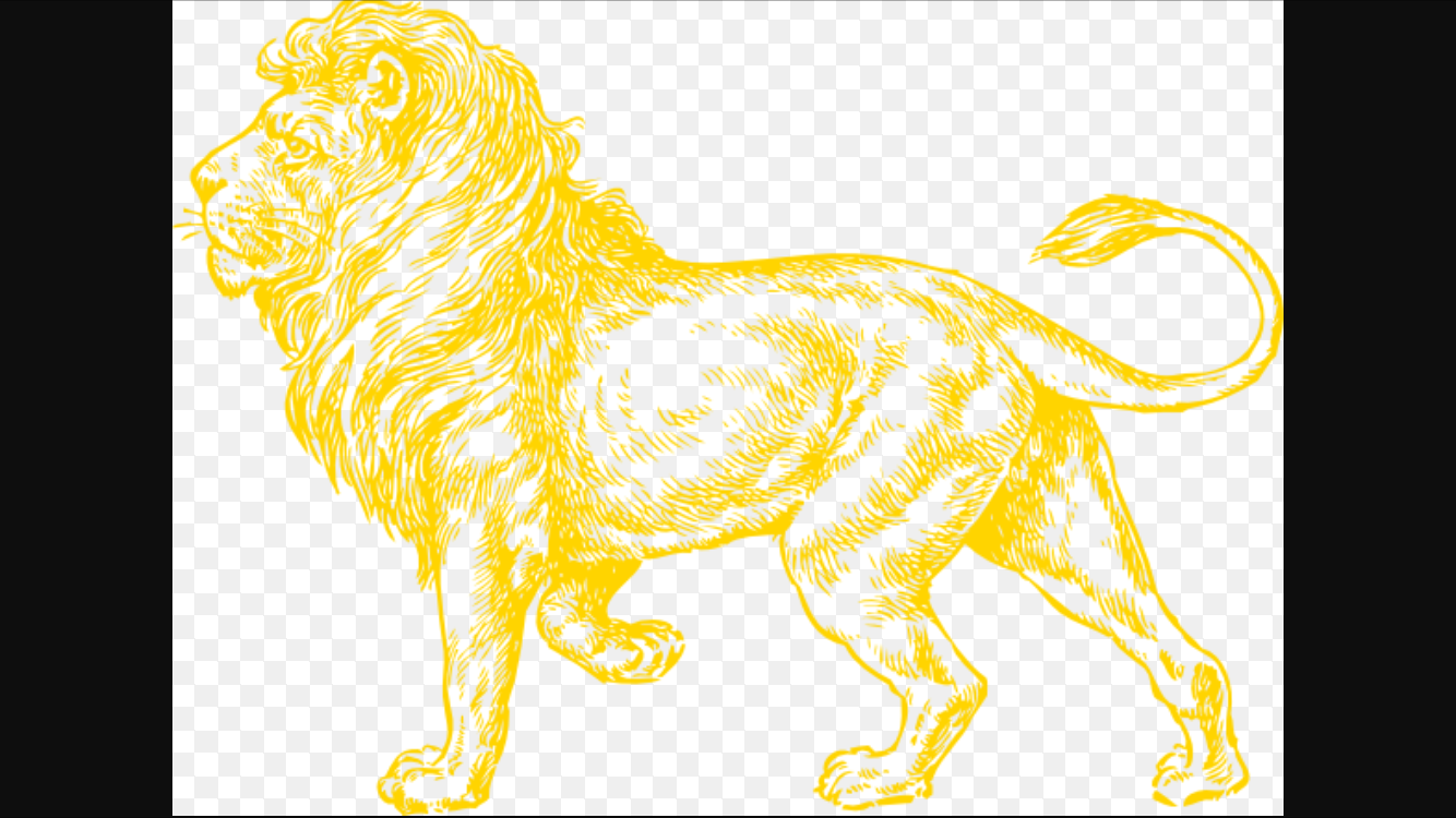 ^lion drawing