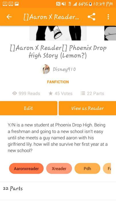 Wattpad fanfiction YN is a new student at Phoenix Drop t