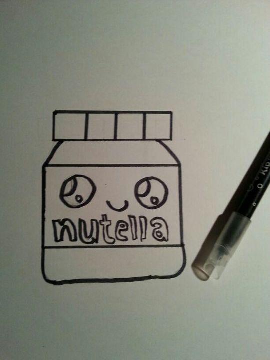 Coloriage Kawaii Nutella.My Drawings 7 Pot De Nutella Wattpad