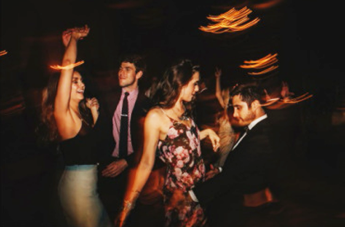 Diana and Sebastian Dancing with her friends Phoebe Tonkin and Paul Wesley at Robet Downey Jr BBQ Party