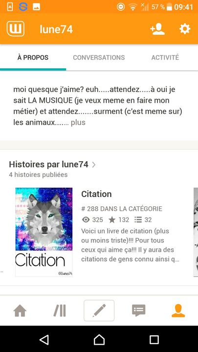 Citation Remerciement Wattpad