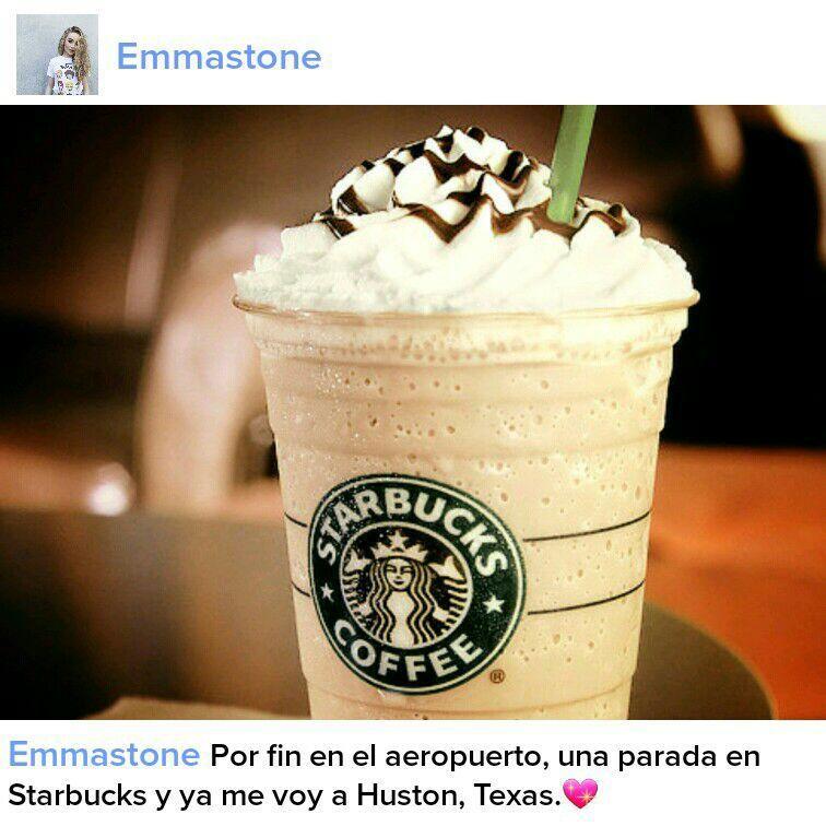 Cuando ya estábamos esperando al avión decidí ir a Starbucks, y como siempre hago le hice una foto y la subí a Instagram