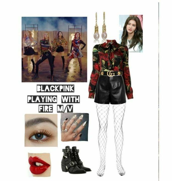은지 Blackpink 5th Member Playing With Fire Outfits And