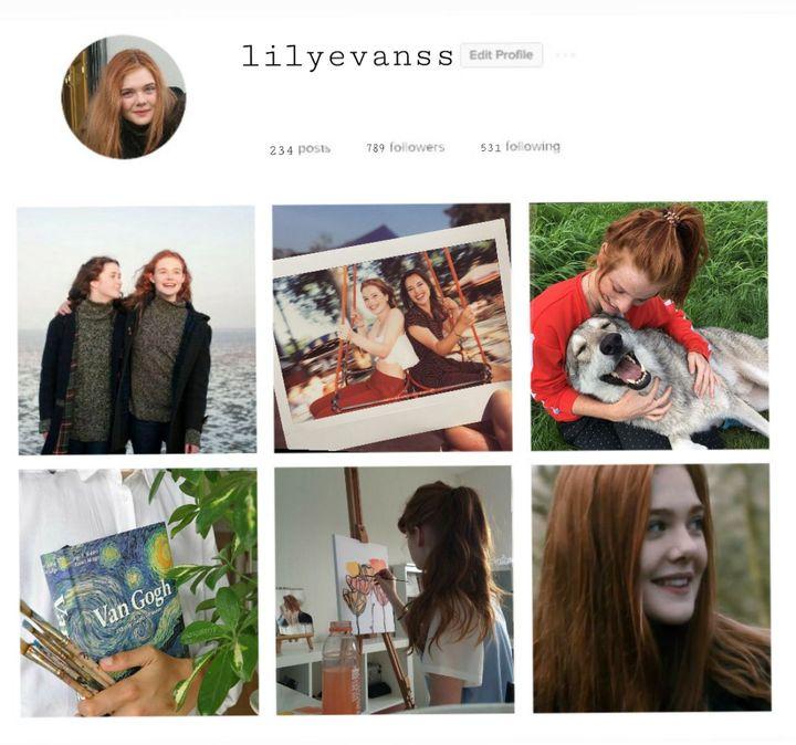 estou pensando em fazer perfis de instagram dos personagens e postar a foto aqui exemplo: