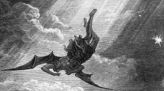 Si bien su caída fue del Edén, en ningún momento fue por ser un ángel, sino por el hecho de haber estado ahí en el lugar y con las personas equivocadas