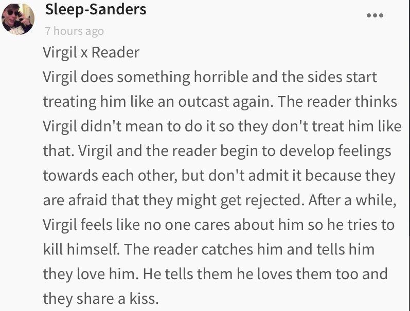 Sanders Sides imagines - Happy ending    (Virgil x reader