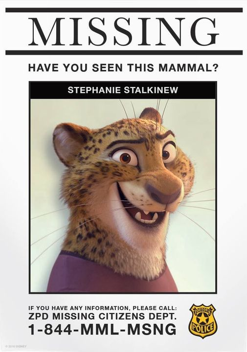(Author's Note: I also based this character off of this picture that was posted by Zootopia's official Facebook)
