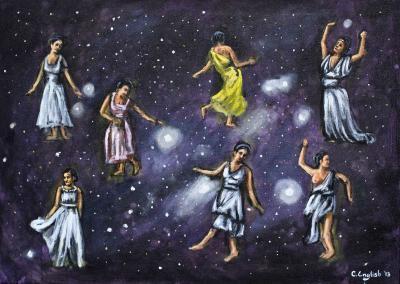 Ellas volaron hacia el cielo y se convirtieron en un grupo de estrellas en la constelación