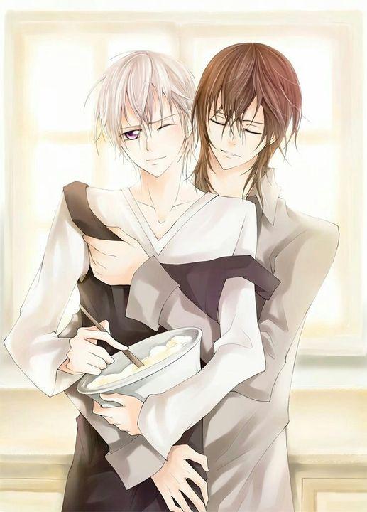 Kaname x Zero: Yaoi Picture Book - I love hugging him ...
