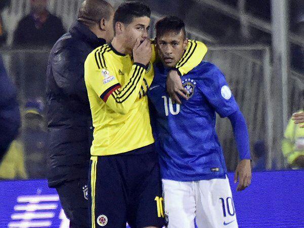 Neymar Jr and James Rodríguez: