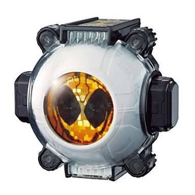 He pulls out his ghost eyecon,he pressed the button on the eyecon''s side and inserts it to the belt
