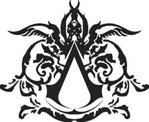 forearm assassins creed logo tattoo