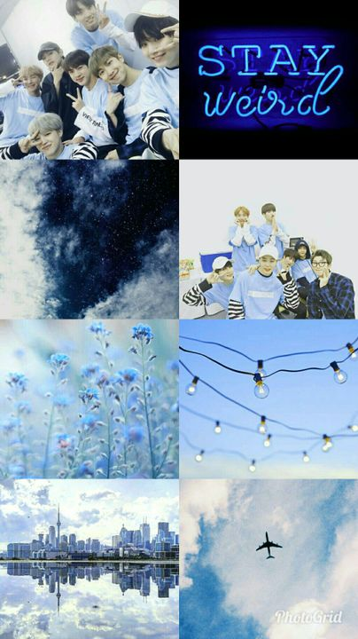 Kpop Aesthetic Collage Requests Closed Bts Blue Aesthetic