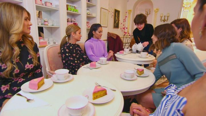 TEA TIME AT BUCKINGHAM PALACE: The Duchess of Kendal joined Princess Nicole to host a women's tea party at Buckingham Palace on Saturday