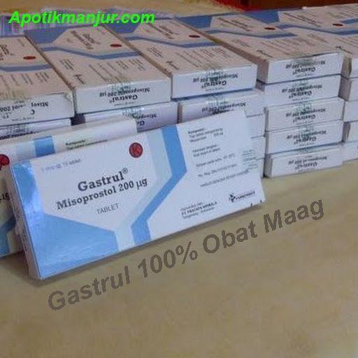 Obat gastrul adalah salah satu  kandungan zat Misoprostol sebesar 200mg