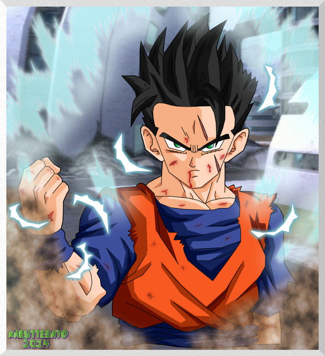 You are gohans Twin brother except your more like goku when it comes to training and fighting you fight  with chichi because you don't study as much as gohan and blow off classes to train with your dad but you are smart