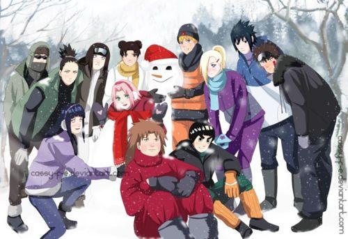 akatsuki gaara high highschool itachi kakashi kiba konoha love naruto narutofanfic rebel sasuke school shippuden - Naruto Christmas