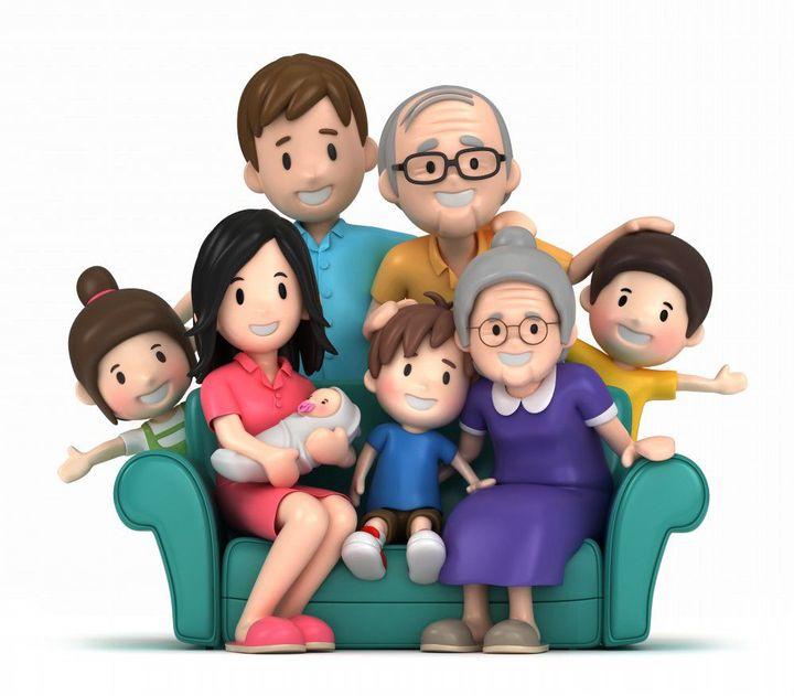"""""""Rodina je v sociologii solidární skupina osob navzájem spjatých manželstvím, příbuzenstvím nebo adopcí, které spolu dlouhodobě žijí a jejíž dospělí členové jsou odpovědní za výchovu dětí"""