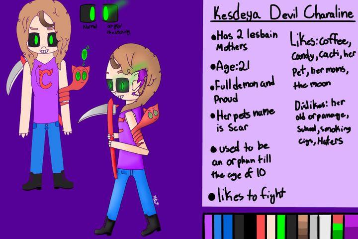 Art Book 3 - Kesdeya's Character sheet and a drawing - Wattpad