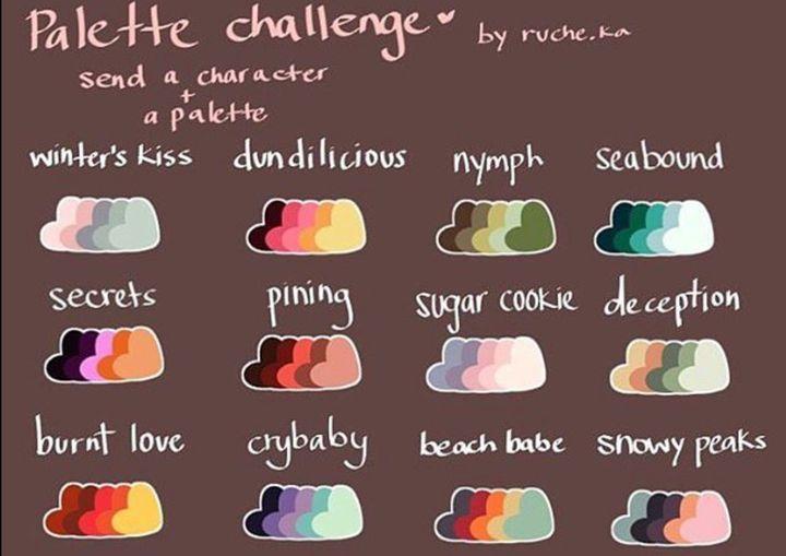 Trashy Art Book Palette Challenge Wattpad