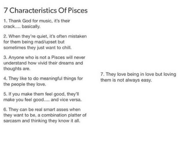 Zodiac Signs ✿ - 7 characteristics of a Pisces - Wattpad