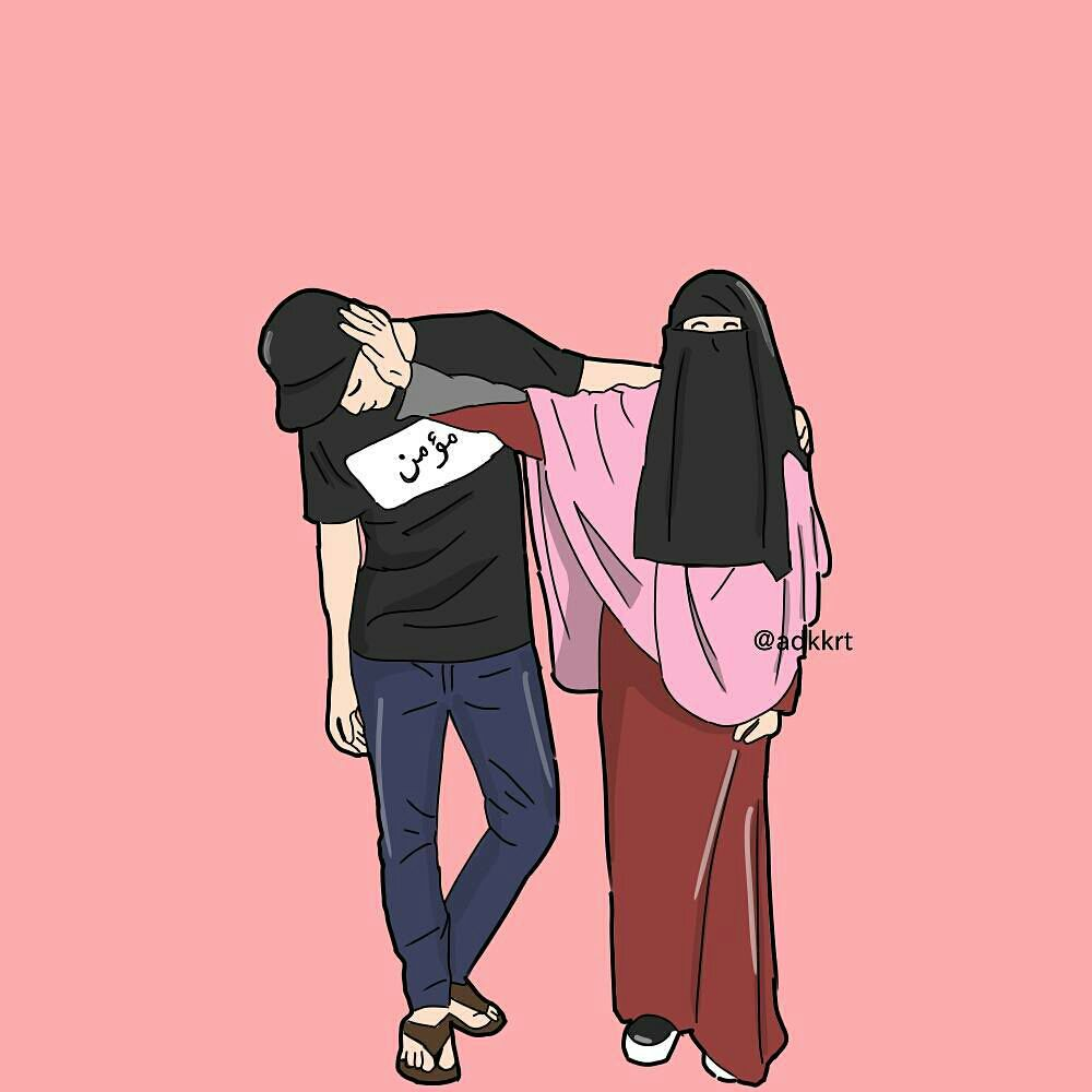 Gambar cartoon muslim couple pictandpicture org