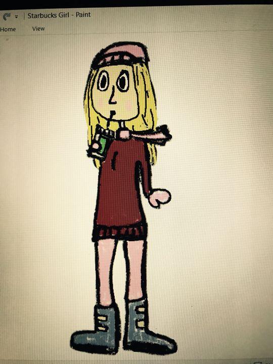 Drawing Pad Starbucks Girl Wattpad