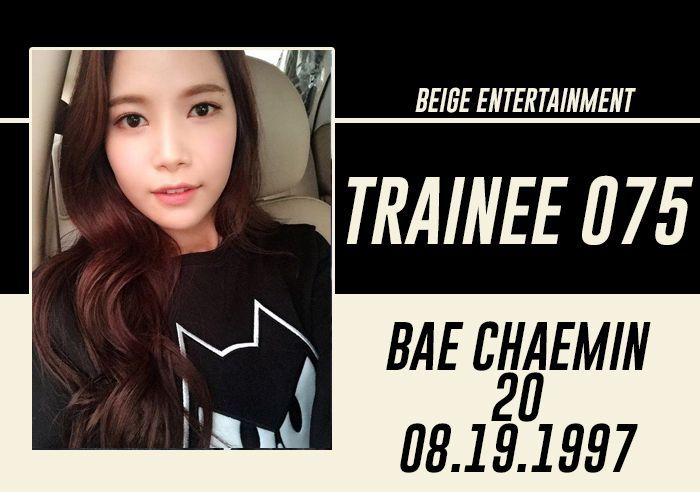 FULL NAME: Bae Chaemin