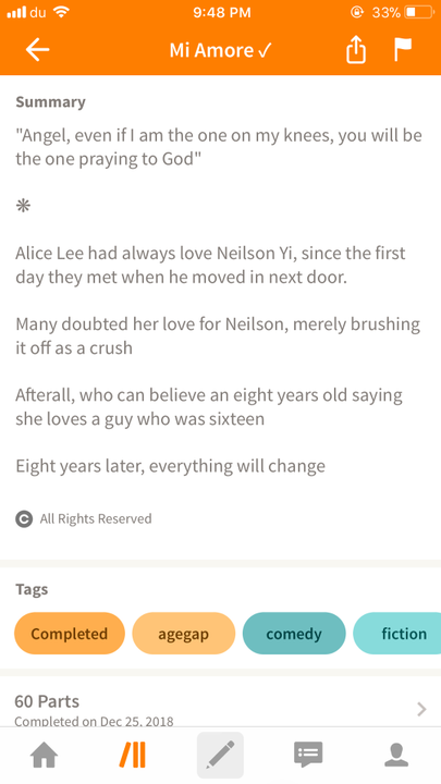Best Completed Stories - Mi Amore - Wattpad