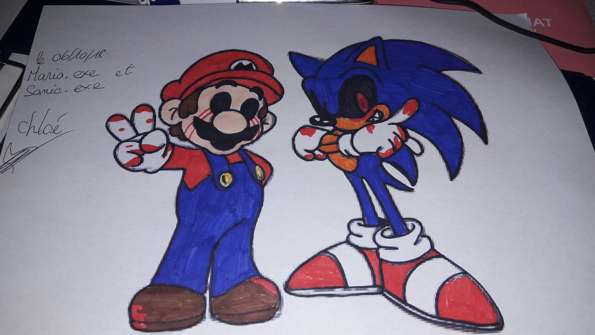 L Artbook D Une Folle De L Espace Mario Exe Et Sonic Exe